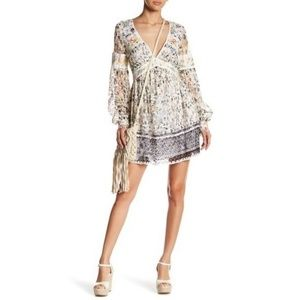 FREE PEOPLE Cherry Blossom Mini Dress Embroidered